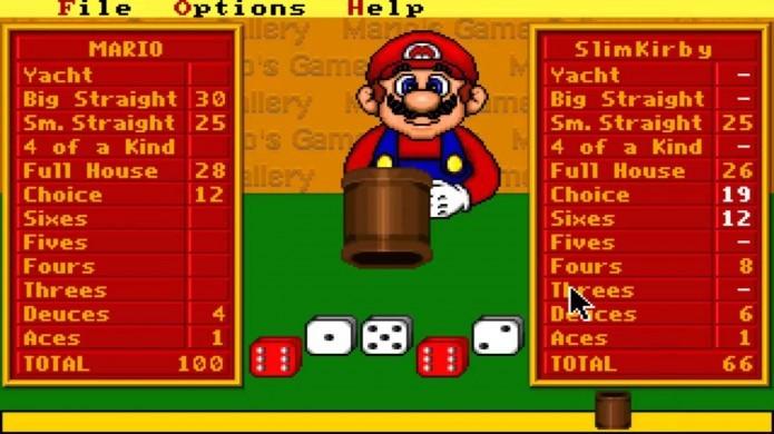 Marios Game Galley era um game onde você podia jogar cinco diferentes jogos contra Mario (Foto: Reprodução/Youtube)