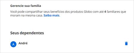 Excluir dependente (Foto: Conta Globo)