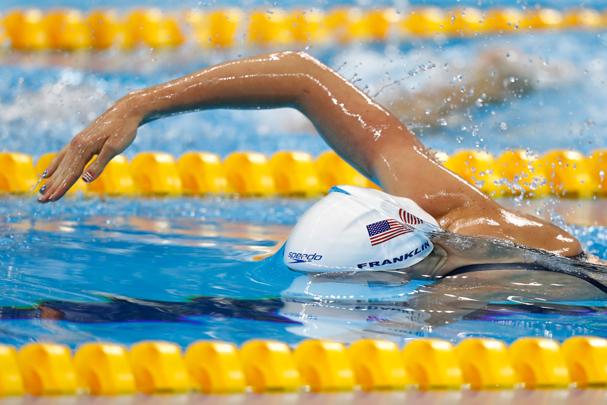 Missy Franklin, da equipe de natação feminina dos EUA (Foto: Clive Rose / Getty Images)