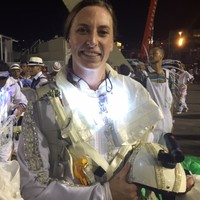 'É maravilhoso!', vibra paraquedista da Portela (Ana Ramalho/G1)