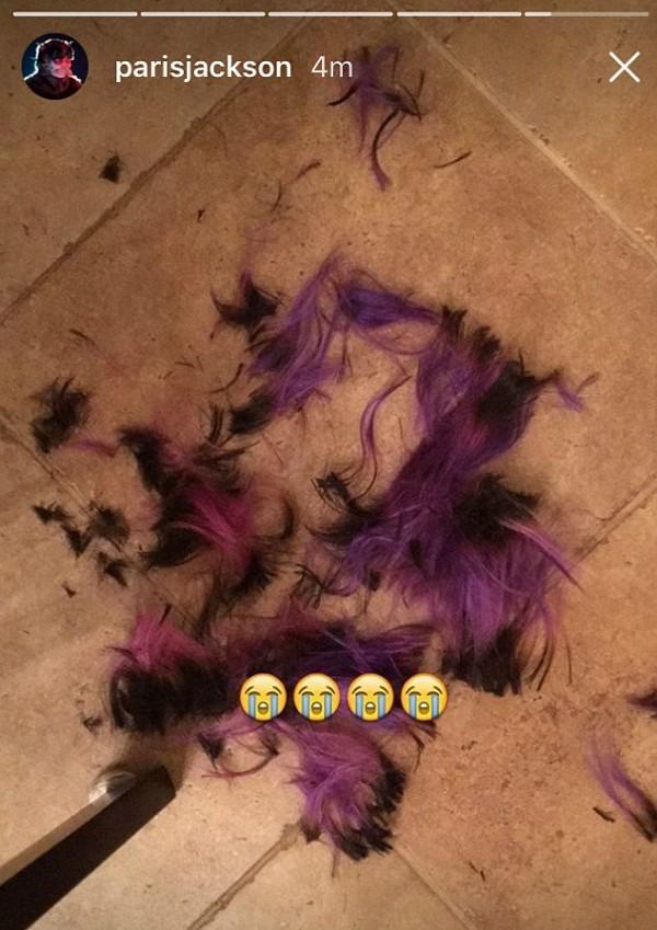 O cabelo do namorado de Paris Jackson (Foto: Snapchat)