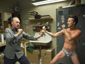 Michael Keaton e Edward Norton em 'Birdman' (Foto: Divulgação)