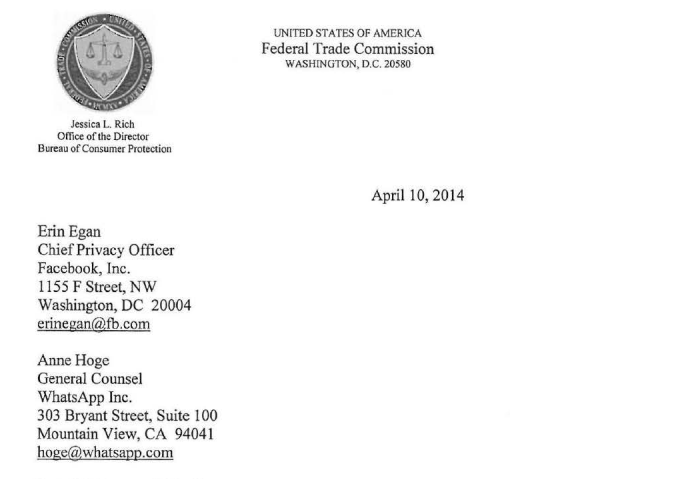 Carta está disponível na Internet (Foto: Reprodução/FTC)