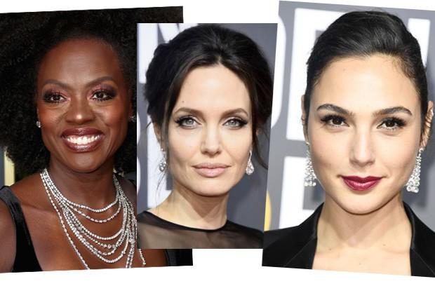 Viola Davis, Angelina Jolie e Gal Gadot (Foto: Getty Images)