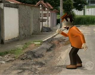 Zé do Bairro em Engenheiro Passos (Foto: RJTV 1ª Edição)