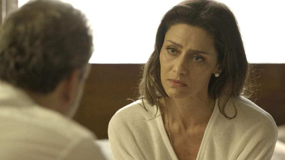 Eugênio abre o jogo com Joyce  😬 (Foto: TV Globo)