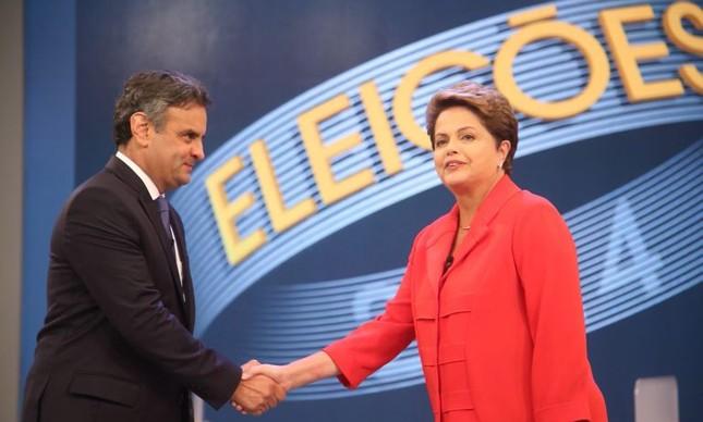Aécio Neves e Dilma Rousseff (Foto: Marcelo Carnaval / Agência O Globo )