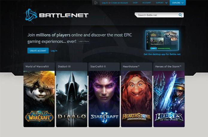 Battle.net é o site que reúne todo o conteúdo dos jogos da Blizzard (Foto: Reprodução)