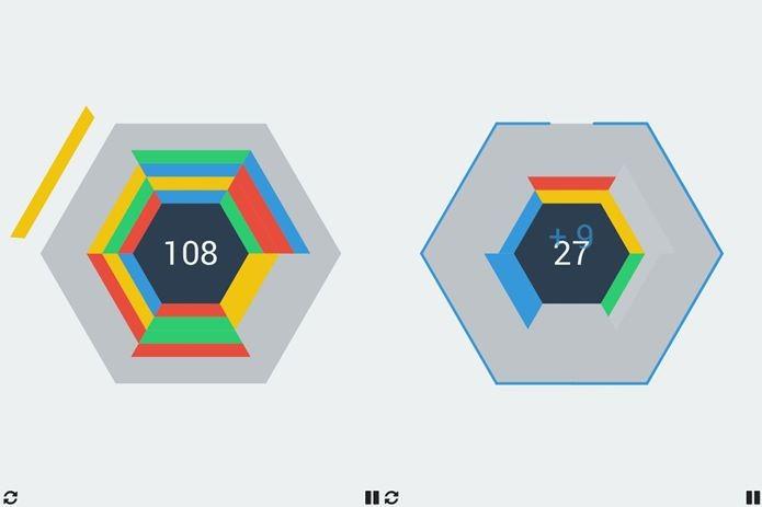A melhor deficinção para Hextris é um Tetris com seis lados (Foto: Divulgação)
