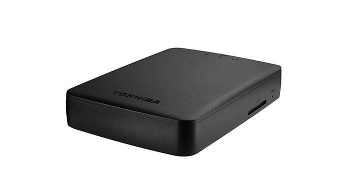 HDD da Toshiba possui rede WiFi própria e se transmite mídia com o Chromecast (Foto: Divulgação/Toshiba)
