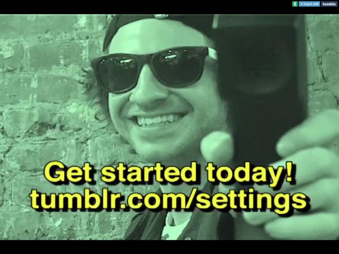 Publique seus posts por voz com a nova ferramenta do Tumblr (Foto: Divulgação/Tumblr)