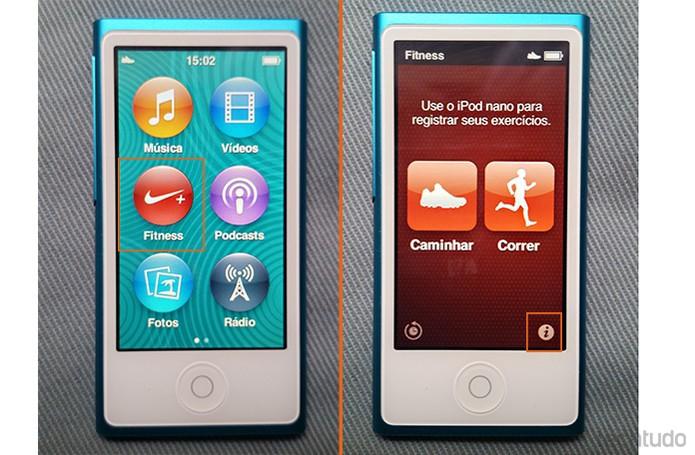 Selecione o app Fitness no iPod Nano (Foto: Barbara Mannara/TechTudo)