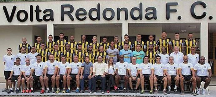 Foto oficial do elenco do Voltaço no Campeonato Carioca (Foto: Divulgação/VRFC)