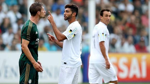 Lance santos Palmeiras (Foto: Marcos Ribolli / Globoesporte.com)