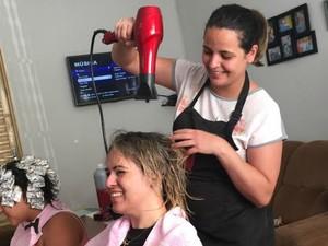 Mari adaptou casa para receber clientes em MS (Foto: Graziela Rezende/G1 MS)