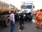 Engavetamento na BR-364 deixa 4 pessoas feridas em Ouro Preto, RO