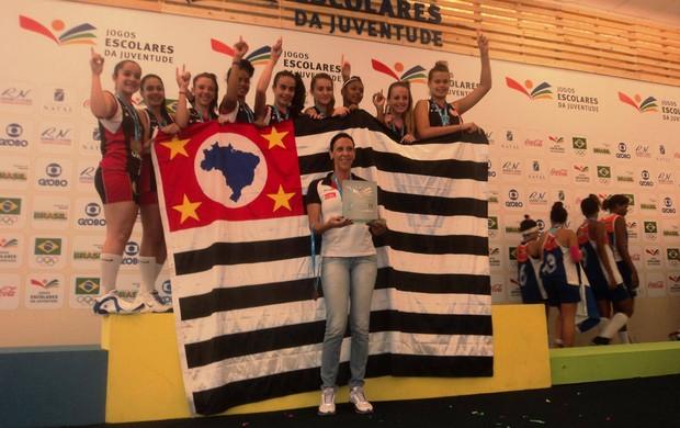 Equipe sub-14 de Venceslau vence Jogos Escolares da Juventude (Foto: Divulgação / Associação de Basquete de Venceslau)