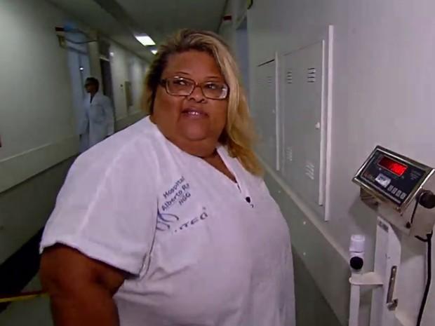 Janira conseguiu passar por cirurgia de redução de estomago Goiânia Goiás (Foto: Reprodução/ TV Anhanguera)