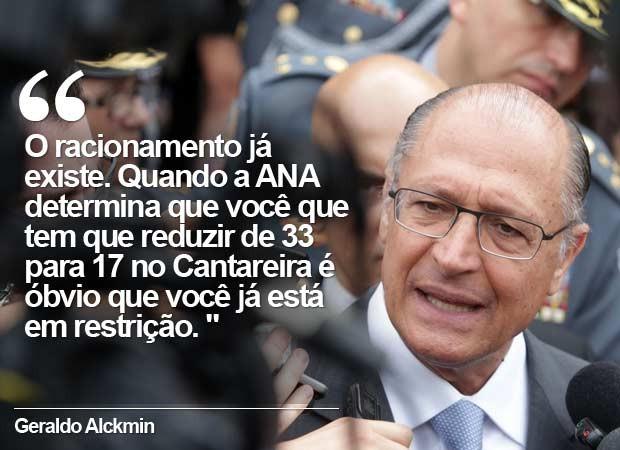 Alckmin durante evento da PM. (Foto: Nilton Fukuta/Estadão Conteúdo)