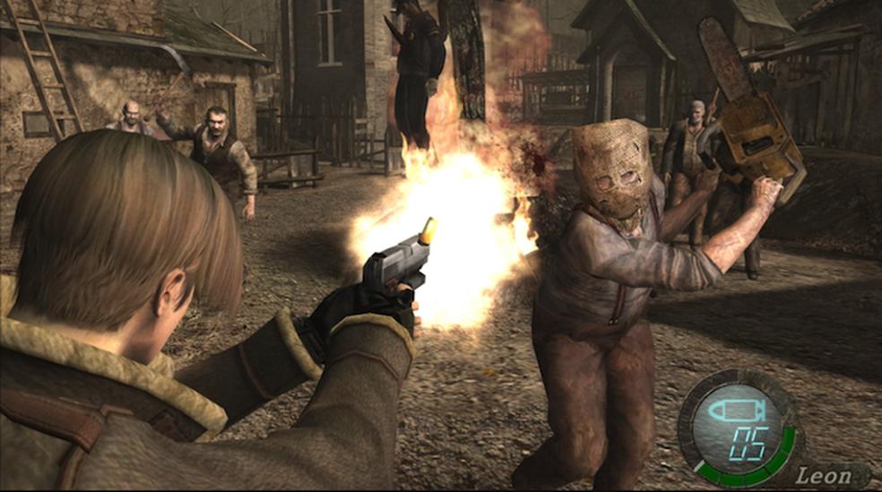 Mortes de Leon assustam em Residen evil 4 (Foto: Divulgação/Capcom)