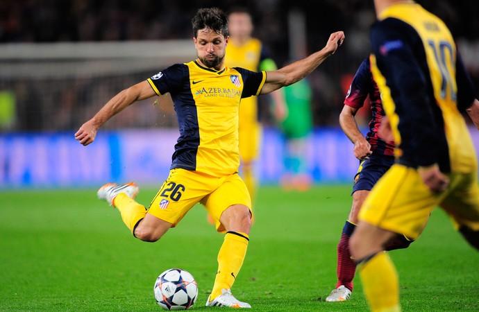 Diego gol, Barcelona x Atlético de Madrid (Foto: AP)