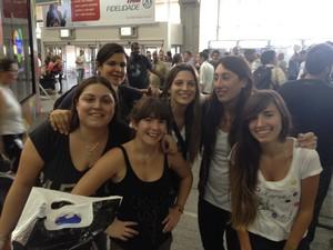 Amigas de Nadia também vieram ao Rio para passar férias (Foto: Renata Soares/G1)