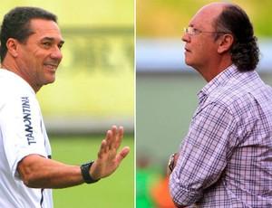 Luxemburgo e Falcão se encontram pela Copa do Brasil (Foto: Montagem sobre fotos de Divulgação)