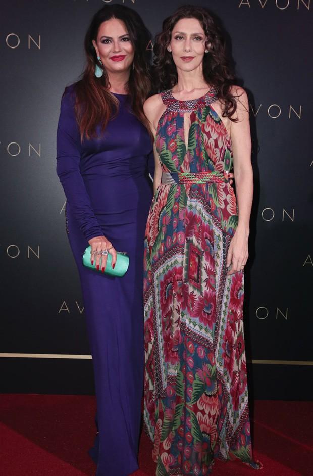 Luiza Brunet e Maria Fernanda Cândido (Foto: Rafael Cusato/Brazil News)