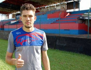 Zagueiro Alcides Júnior, o Juninho, é anunciado pelo Genus para temporada 2016 (Foto: Genus/Divulgação)