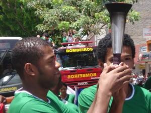 Reginaldo Damião Uberaba revezamento Tocha Jimi Ipatinga (Foto: Reginaldo Damião/ Arquivo Pessoal)