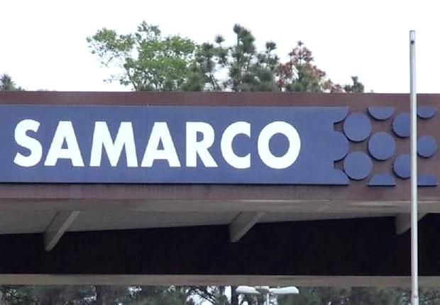 Fachada da mineradora Samarco, que pertence à companhia de mineração Vale (Foto: Reprodução/YouTube)