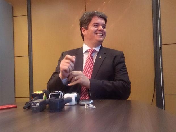Secretário de Mobilidade do DF, Carlos Henrique Tomé, em entrevista nesta quarta (15) (Foto: Mateus Rodrigues/G1)