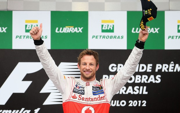 O inglês Jenson Button termina a temporada em quinto lugar, apenas quatro pontos atrás do companheiro Lewis Hamilton (Foto: Getty Images)