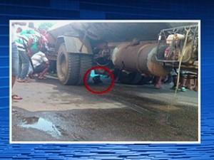 Jovem morre em acidente de moto após colidir em caminhão-pipa em Santa Cruz do Capibaribe (Foto: Reprodução/TV Asa Branca)