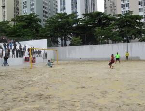 Campeonato Brasileiro sub-23 Flamengo Vasco futebol de areia Greg (Foto: Ana Carolina Fontes)