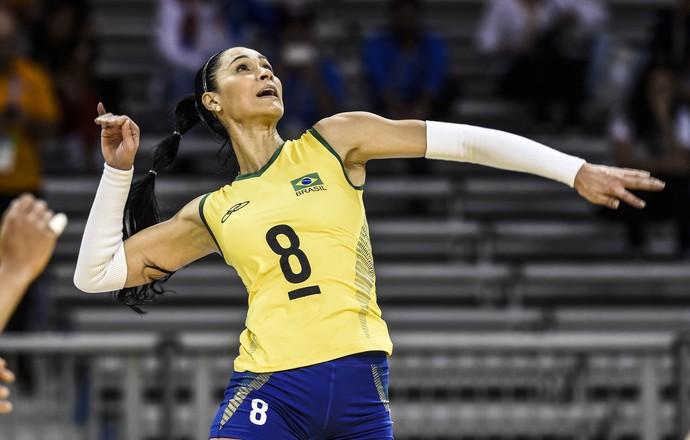 Pan 2015: Brasil estreia no vôlei feminino contra Porto Rico (Foto: William Lucas/ Inovafoto)