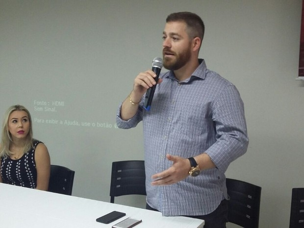 Renzo Vasconcelos, candidato à prefeitura de Colatina, no Espírito Santo (Foto: Raquel Lopes/ A Gazeta)