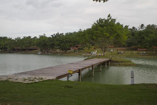 Lago do hotel fazenda Boa luz, comandado por Marlene Mattos (Foto: Anderson Barros/EGO)