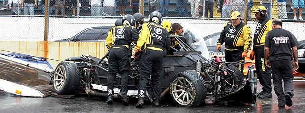 Pedro Boesel Gustavo Sondermann acidente (Foto: Vanderley Soares)