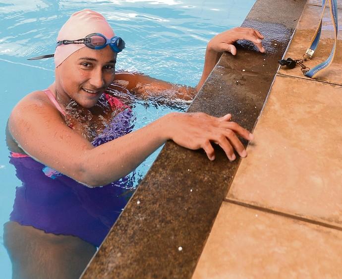 Patrícia Pereira, nadadora capixaba paralímpica (Foto: Bernardo Coutinho/A Gazeta)