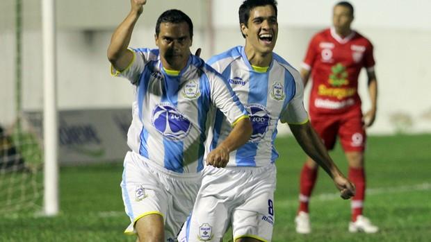 Macaé x Mogi Mirim - Série C - Ziquinha comemora gol 2 (Foto: Tiago Ferreira/Divulgação)