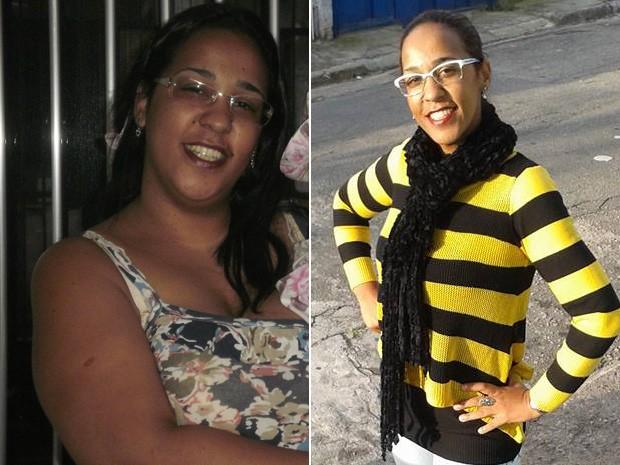Tathiana pensou em fazer cirurgia bariátrica, mas desistiu quando viu que conseguiu perder 20 kg só com mudança alimentar (Foto: Tathiana Carreira/Arquivo pessoal)