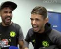 """Diego Costa """"late"""" em entrevista a Hazard, e jornal o chama de """"vilão mais divertido"""""""