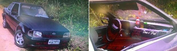 Na comunidade de Canabrava, casal foi assassinado dentro de um Ford Verona (Foto: Reprodução/Inter TV Cabugi)