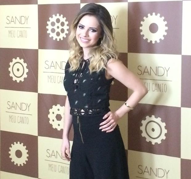 Sandy no camarim do Vivo Rio (Foto: Rafael Godinho/Ed.Globo)