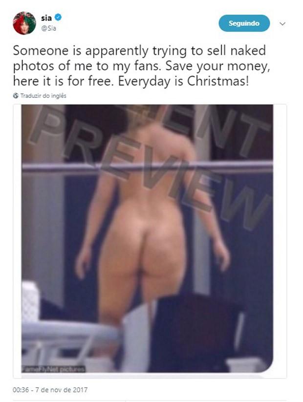 Sia posta foto nua (Foto: Reprodução/Twitter)