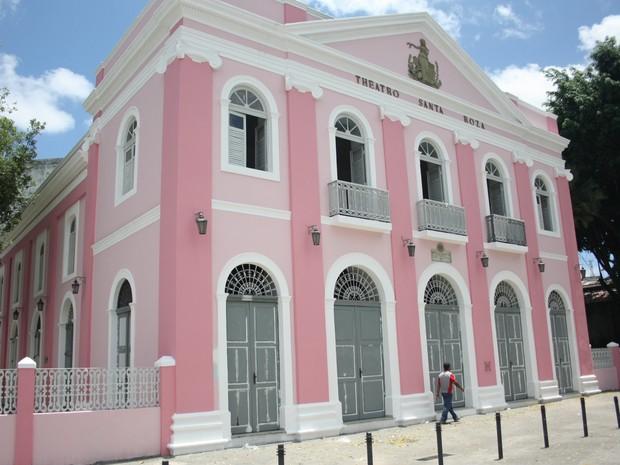 Teatro Santa Roza, em João Pessoa, completa 126 anos de existência e está entre os mais antigos do Brasil  (Foto: Francisco França/Jornal da Paraíba)