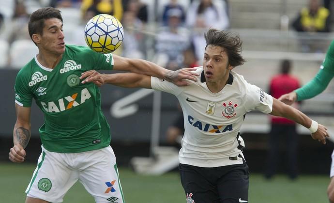 Gimenez e Romero Corinthians x Chapecoense (Foto: Daniel Augusto Jr/Ag. Corinthians)