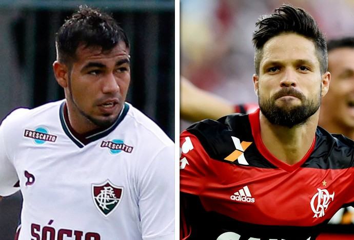 Sornoza (Flu) e Diego (Fla)  (Foto: Infoesporte)