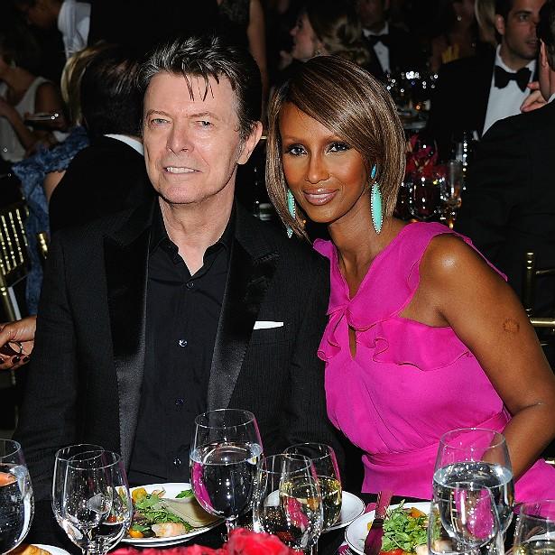 A modelo somali Iman Mohamed Abdulmajid, conhecida apenas pelo primeiro nome, é casada com David Bowie desde abril de 1992. (Foto: Getty Images)